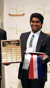 Brain Power student, Denesh Kumar, wins first place in national public speaking competition!